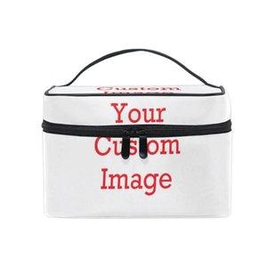 Женская профессия Косметическая сумка Макияж Кейс для макияжа Пользовательская картинка Макияж Организатор Туалетное хранение Звезды на молнии Путешествующие мешки