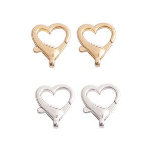 10pcs lot Alloy Heart Shape Lobster Clasp Key Chain Split Hooks For DIY Jewelry Making Necklace Bracelet Connector Accessory 1182 Q2