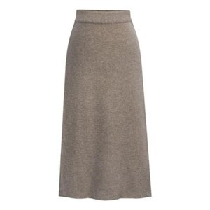 Skirts Women Sweater Skirt Pencil Midi Knitted High Waist Womens Winter Long Warm Knitting Korean Style Split Bottoms