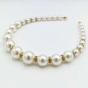 Pearl Headbands White Faux Pearl Hairbands Bridal Bling Hair Hoop Wedding for Women Girls Gift Wedding Party Holiday