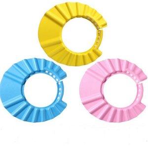 Bebek Duş Kapaklar Şampuan Kap Yıkama Saç Çocuk Banyo Vizör Şapka Ayarlanabilir Kalkan Su Geçirmez Kulak Koruma Göz Çocuk Şapkalar Bebek 1131 X2