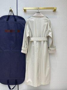 2021 Milan Trench Engway Pauts Длинные шеи дизайнер женские бренд стиль одинаковые пальто отворота в рукавах 0228-16 WMRTJ