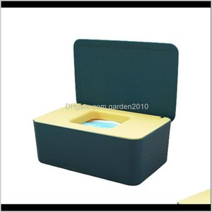 Boxes Napkins Table Decoration Accessories Kitchen, Dining Bar Home & Garden Drop Delivery 2021 Tissue Box Case Baby Wet Wipe Dispenser Cover
