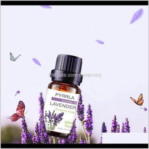 Fragrance Deodorant Health & Beauty Drop Delivery 2021 Us Warehouse Pyrrla 10Ml 6Pieces Lot Gift Box Pure Essential Oil Set Humidifier Lavend