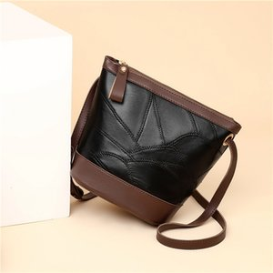 Messenger Bags Messenger Bags2021 Summer Fashion Bucket Soft Leather One Shoulder Messenger Versatile Sheepskin Women's Bag