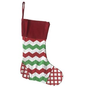 New Designs Christmas Stocking Embroidered Personalized Stocking Gift Bag Xmas Tree Candy Ornament Family Holiday Stocking OOD6006