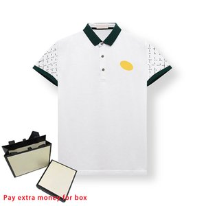 Summer Fashion Casual Mens Polos Loose Lapel Print Bee Embroidery T-shirt Comfortable and Breathable Menfolk Tees Various Color Styles