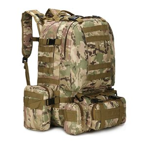 50L Tactical Backpack,Men's Military Backpack,4 in 1Molle Sport Tactical Bag,Outdoor Hiking Climbing Army Backpack Camping Bags 529 X2