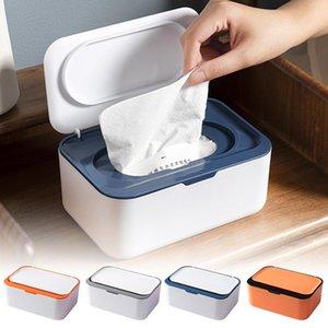 Tissue Boxes & Napkins Desktop Box Holder Modern Dustproof Easy Use Wet Wipes Dispenser For Home Office