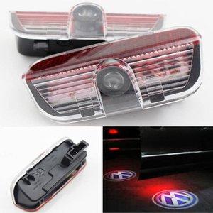 Автомобильный дверной свет для Volkswagen VW Passat B6 B7 CC Golf Jetta MK5 MK6 Tiguan Scirocco с жгутом Добро пожаловать Hishost Shadow Лазерный проектор