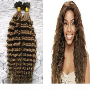 Keratin hair extensions #4 Dark Brown Dee wave U Tip Human Hair Extensions 100g nail tip hair extensions