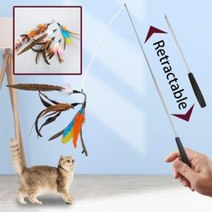 القط لعب الحيوانات الأليفة لعبة ماوس كاذبة ريشة الكرة الجرس الطيور التفاعلية مضحك دعابة عصا التدريب هريرة عصا