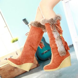 2020 Wedge Boots Australia Women's Shoes Platform Plush Winter Footwear Booties Ladies Sexy Thigh High Heels High Sexy A1-305