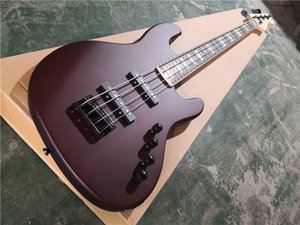 free delivery 4 strings JB bass guitar ,matte red brown mahogany bass,rosewood fingerboard 24 frets