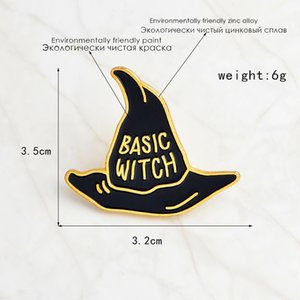 WIZARD Pins Hat BASIC WITCH Jewelry Pin Button IN Denim Jacket For Badge TRAINING For T-shirt Bag Gift Kids Brooches Friends Jiaxa