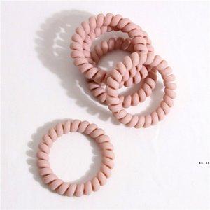 Party Favor Moderne farbige Telefondraht Elastische Haarbänder für Mädchen Headwear Pferdeschwanzhalter Gummiband HWE5645