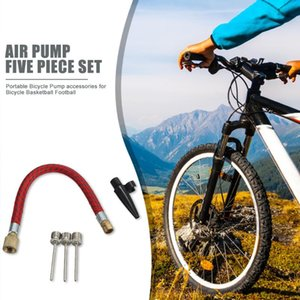 Bike Pumps 5pcs set Lightweight Ball Pump Inflation Joint Pipe Hose Swimming Ring Nozzle Needles Bicycle Supplies