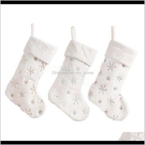 Decorations 3Styles Gift Soft Imitation Rabbit Hair Bead Embroidery El Home Sequin Christmas Socks Bag Party Decor Props R4Xh0 Qdnwe