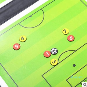 Soccer Football Tactical Board Trainning Assisitant Equipments 2.5 Fold Leather Teaching Board ALS88