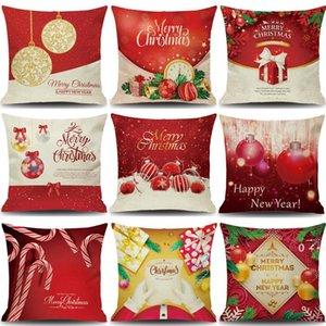 Christmas decorative pillow case linen xmas pillowcase Santa Claus pillowcase 45*45cm FWB10741