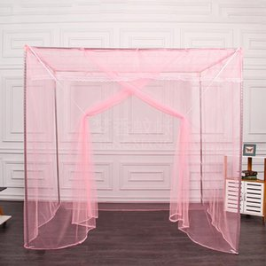 Crib Netting Home Bed Opening Solid Polyester Canopy Summer Mesh Decoration Dormitory Mosquito Net Anti Insect Double Square Top