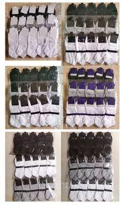 Mens Socks Black White Gray Four Seasons Pure Cotton Letter Ankle Short Breathable Outdoor Leisure Sport