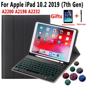 7 Colors Backlit Keyboard Case For Apple iPad 10.2 2019 7 7th 8th Gen Generation A2200 A2198 A2232 Case Keyboard for iPad 10.2