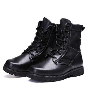 Great size combat Breathing light mesh security duty men boots canvas men's outdoor shoes boot 8V45