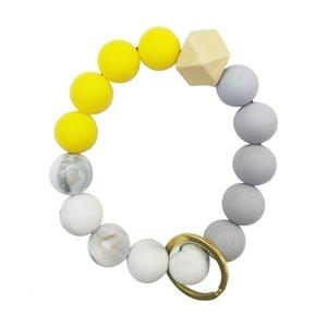 Bangle Silicone Beaded ring car key bracelet DIY