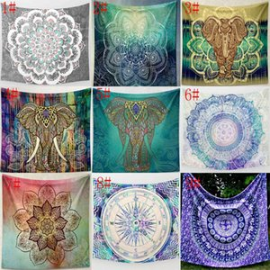 31 Designs Wall Hanging Tapestries Bohemian Mandala Elephant Beach Towel Shawl Yoga Mat Table cloth Polyester Tapestries AHD6096