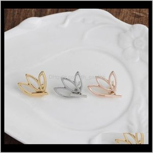 Stud Jewelry Drop Delivery 2021 Autumn Winter Products Simple And Stylish Openwork Lotus Womens Flower Earrings Ps2522 Ahil2