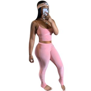 Summer Fitness Bodycon Tracksuit Women Sexy Sportswear Lounge Wear Crop Top With Stacked Leggins Two Piece Set Outfits Dress