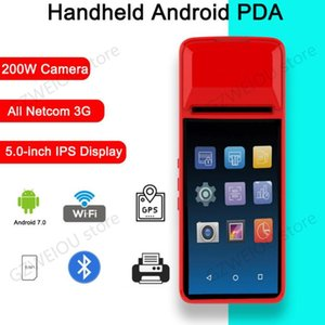 Printers PDA Android 7.0 Bluetooth Thermal Receipt Printer 58mm 3G WiFi Mobile Order Terminal With 5.0