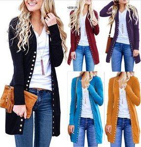 Womens Slim Warm Long Sleeve Knit Waterfall Office Jacket Blazer Coat Autumn Tops Covered Button Cardigan