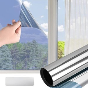 Window Stickers Insulation Film Stained Sun Blocking Anti-UV Self Adhesive Reflective Privacy Tint Glass Home Decoration