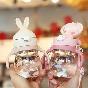 Бесплатная губка кисть 270 мл милая детская бутылка новорожденных детей учиться кормление питья бутылка для кормления детский сок водную подготовку Кубок 823 v2