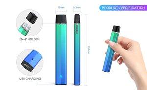 2021 Одноразовое видеосъемка Vape Устройство E-Cigarettes 1.0ml Стручки аккумуляторные комплектующие 230 мАч Строиться в батарее Пустое оснастку на блокировке СИД СИД слойки плюс oEM ODM