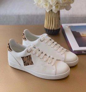 Роскошные высококлассные повседневные женские туфли леопардовые печатные кожаные плоские Ботто комфортно и долговечны с коробкой, пылезащитный ремень карта Большой размер EUR35-42