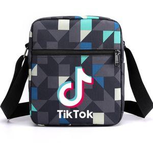 TikTok Sells Hot Tik Tok Bags For Men Women Starry Printed One Shoulder Bag Fashion Students Messenger Bag Handbags Fanny Packs G41O8LK