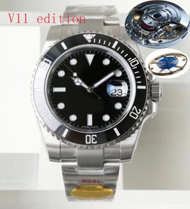 N factory V11 edition men watch Sapphire watches ETA 3135 movement Ceramic bezel 904L stainless steel waterproof 100M luminous Wristwatch Orologio di lusso