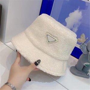 Женская плюшевая ковша шляпа дизайнерская крышка рыболова шапки мужские осени зимние колпачки мода скумит мраменистый повседневный втулки Sunhat Sunshade Luxurys дизайн