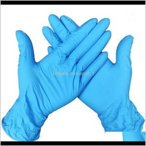 Tools Housekeeping Organization Home Drop Delivery 2021 Disposable Protective Nitrile Latex Universal Household Garden Cleaning Gloves Food H