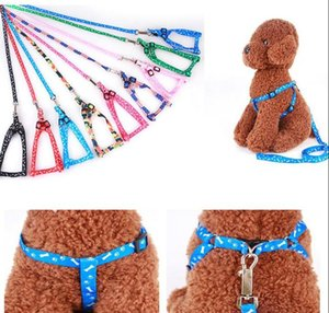 Newest 1.0*120cm Dog Harness Leashes Nylon Printed Adjustable Pet Dog Collar Puppy Cat Animals Accessories Pet Necklace Rope Tie Collar#