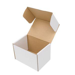 3 حجم الأبيض المموج ورقة مربعات التعبئة التعبيرية اللوجستية الكرتون للبيع 50 جهاز كمبيوتر شخصى / مجموعة