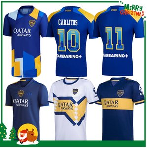 20 21 Boca Juniors Soccer Jersey Carlitos Maradona Tevez de Rossi 2021third Home Away 3rd 4th تايلاند قميص كرة القدم الرجال + أطفال مجموعات