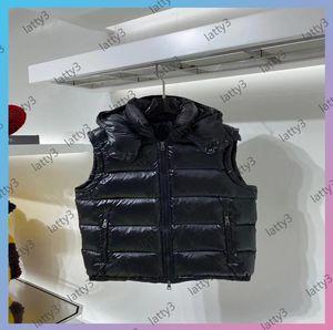 Designers Vest 2021 Mens Women Luxurys Gilet Brand Sleeveles Jacket Cotton Padded Mens Down Vest Winter Casual Coats Male Waistcoat With Cap