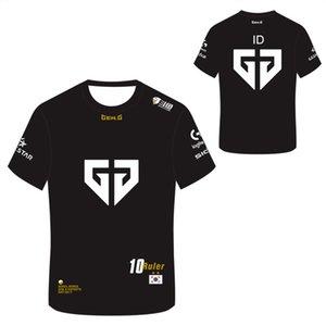t shirt Lol S10 Lck Ge Ng Sports Player Jersey Geng Team Uniform T-shirt Custom Id Name Fans Game for Men Women Tea shirt