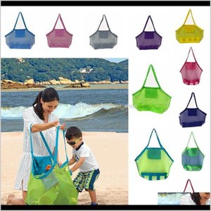 Large Capacity Children Beach Sand Away Mesh Tote Bag Kids Toys Towels Shell Collect Storage Bags Fold Shopping Handbags Aaa2014N Sxc7 Uvrww