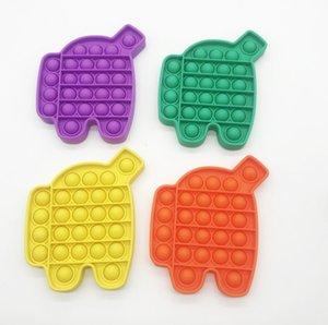 Finger Push Bubble Bambini Adulti Novel Fidget Semplice Dimple Decompressione giocattolo Arcobaleno Robot Desktop Puzzle Giocattoli Caramelle Colori G39a8ji