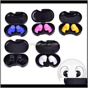 Nose Clip 1 Pair Sile Earplugs Diving Water Sports Swimming Accessories Soft Ear Plugs With Luxurious Collection Box Tn4Hn Vonf8